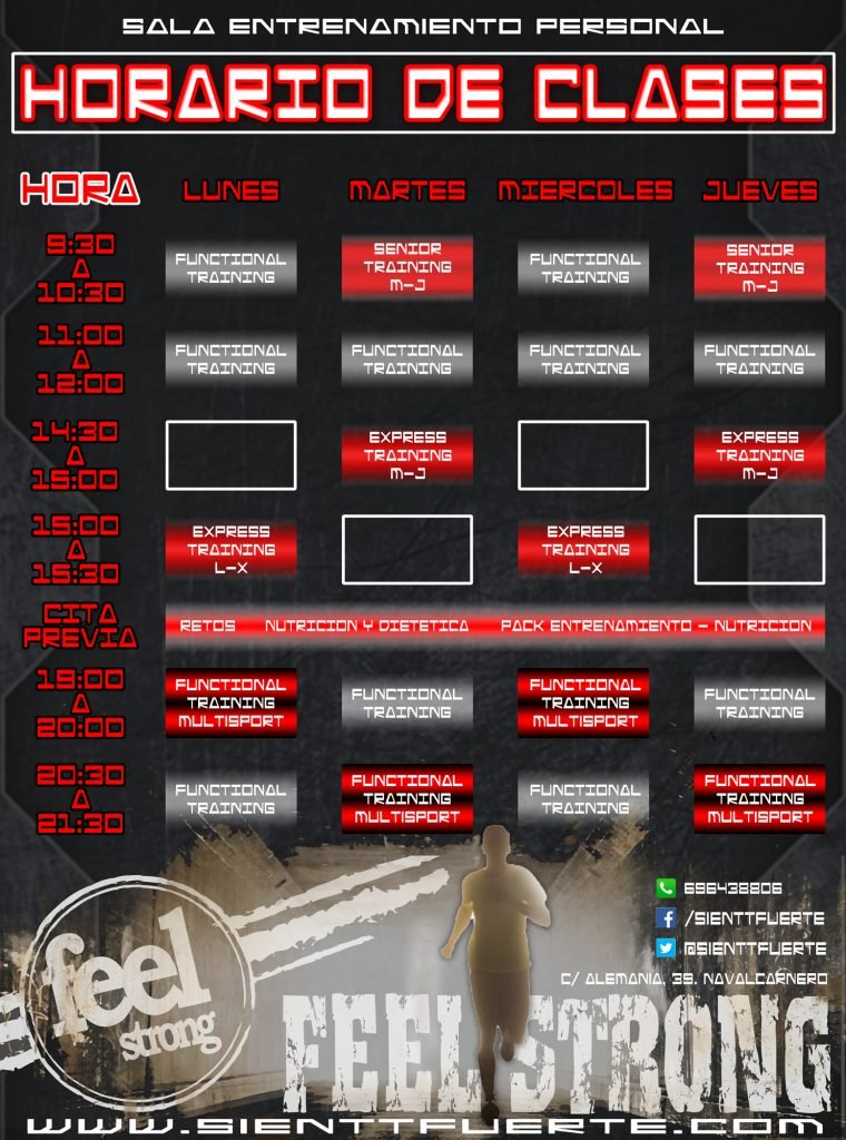 Horario Feel Strong Navalcarnero